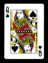 Queen of spades playing card, Royalty Free Stock Photo