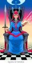 Queen of swords, tarot card