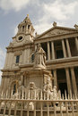 Queen Victoria and Saint Paul's Cathedral London Royalty Free Stock Images