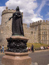 Queen Victoria Statue Windsor Castle England Royalty Free Stock Photo