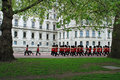 Queens Irish Guards Stock Photo