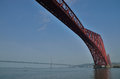 Queensferry forth bridge port of scotland with the red Royalty Free Stock Photography