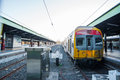 Queensland rail train aus dec door have million customer journeys on the city network south east per Stock Images