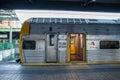 Queensland rail train aus dec door have million customer journeys on the city network south east per Stock Image