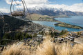 Queenstown chairlift Arkivbilder