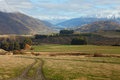 Queenstown neighborhood in the late autumn beautiful view near south island new zealand Royalty Free Stock Images