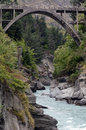 Queenstown new zealand the bridge over the shotover river in Royalty Free Stock Photography