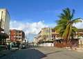 Quelimane mozambique december city street the centre of the a house in the road from parked Royalty Free Stock Photos