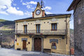 Queralbs town hall caralps car�lps historical catalan city at the foot of the pyrenees tourist Stock Image