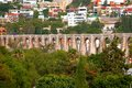 Queretaro aqueduct II Royalty Free Stock Photo
