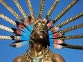 Queretaro Dancing Indian Statue Stock Image