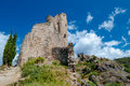 Quertinheux tower and walls at Lastours Stock Photography