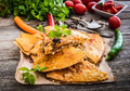 Quesadilla with spices Royalty Free Stock Photo