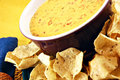 Queso & Chips Stock Images