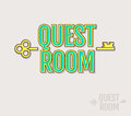 Quest Room logo. Royalty Free Stock Photo