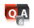 Question and answers cubes Royalty Free Stock Images