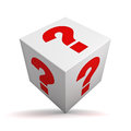 Question box Royalty Free Stock Photo