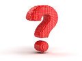 Question from cubes image of white background Royalty Free Stock Photography