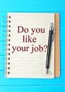 Question Do you like your job Royalty Free Stock Photo