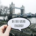 Question do you speak English? in London, UK Royalty Free Stock Photo