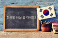 Question do you speak Korean? written in Korean Royalty Free Stock Photo