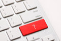 Question enter button key on white keyboard Royalty Free Stock Images