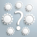 Question 7 Gears Infographic Royalty Free Stock Photo