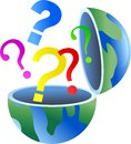 Question globe Stock Images