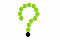 the question of green tennis ball Royalty Free Stock Photo