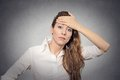Question headache doubt Royalty Free Stock Photo