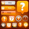 Question high-detailed modern buttons. Royalty Free Stock Photos