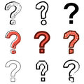 Question icons set Royalty Free Stock Images