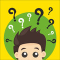 Question Man Royalty Free Stock Photo
