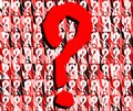 Question mark on artistic colorful background