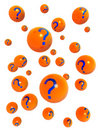 Question mark ball floating Stock Photo