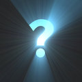 Question mark bright light flare Royalty Free Stock Photo