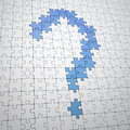 Question mark build out of jigsaw Royalty Free Stock Image