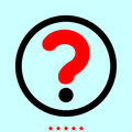 Question mark in a circle it is color icon .