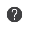 Question mark in a circle simple icon vector