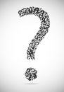 Question mark consisting of question marks Stock Images