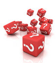 Question mark cubes Stock Images