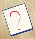The question mark drawn Royalty Free Stock Images