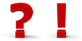 Question mark and exclamation point Royalty Free Stock Photo