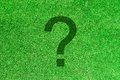 Question mark green grass background and Royalty Free Stock Image
