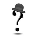 Question Mark with Hat Royalty Free Stock Images