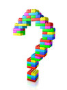 Question mark made of blocks construction toy Stock Image