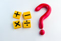 Question mark with math symbol Royalty Free Stock Photo