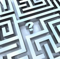 Question Mark in Maze - Find the Answer Royalty Free Stock Photo