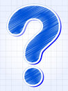 Question-mark over squared sheet Royalty Free Stock Images