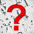 Question mark on a peeled background Royalty Free Stock Photography